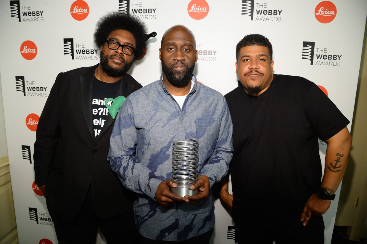 Musicians Questlove (right) & Posdnuos and Trugoy the Dove of De La Soul